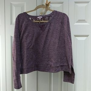 Victoria's Secret cropped sweatshirt with lace